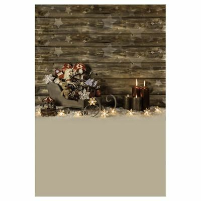 5X7FT Christmas theme Photo Background Photography Backdrop Props, Sleighs R4G5