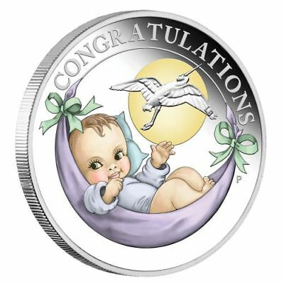 NEW Perth Mint - Newborn 2018 1/2oz Pure Silver Coin
