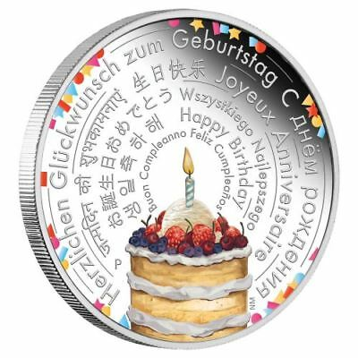 NEW Perth Mint - Birthday Wishes 2018 2oz Pure Silver Coin