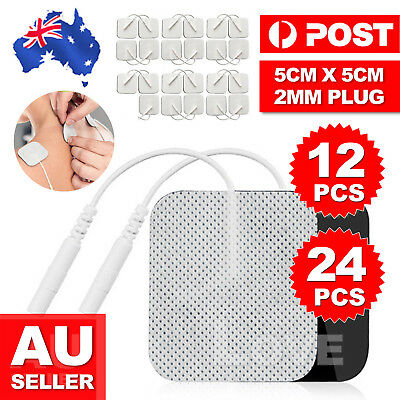 12/24X Tens Machine Replacement Electrode Pads Gel Self Adhesive 5X5cm Reusable
