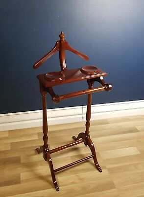 Vintage Coat Stand, Suit Rack, Solid Mahogany, Excellent Condition
