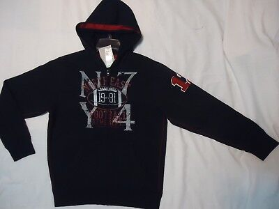 NWT Boy's Canyon River Blues Gray,Black long sleeve zip up Hoodie Size L 14/16