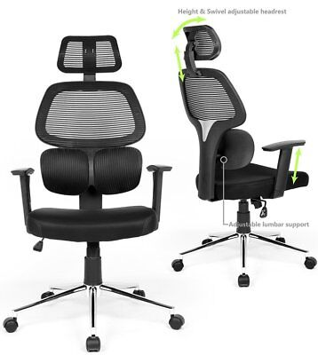 Phenomenal Ergonomic Rolling Chair High Back Adjustable Lumbar Support Dailytribune Chair Design For Home Dailytribuneorg