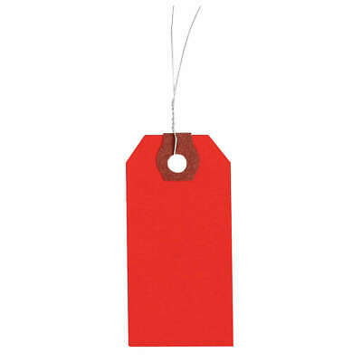 GRAINGER APPROVED Wire Tag,Paper,Blank,PK1000, 4WKX2, Red