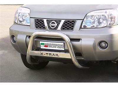 Bull Bar Nissan X-Trail 2004/07 Medium Bar Mark ø 63 Inox