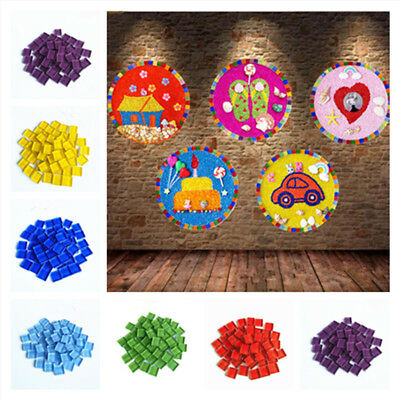 Lot Many Color Glass Mosaic Tiles for DIY Craft School Mosaic Making