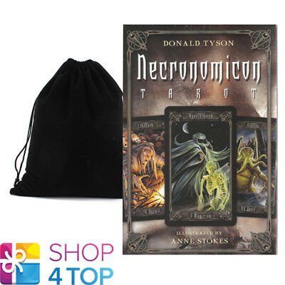 Necronomicon Tarot Cards Deck Esoteric Telling Anne Stokes Llewellyn Bag New