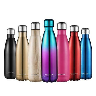 Thermos STAINLESS VACUUM Insulated Bottle Drink Flask Hot Coffee Drink 350ML-1L