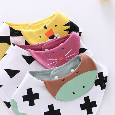 Infant Animal Baby Bibs Newborn Bandana Bibs Scarf Infant Burp Cloths Saliva N7