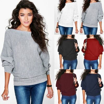 UK Womens Long Sleeve Sweater Blouse Thermal Pullover Chian Shirt Ladies Tops
