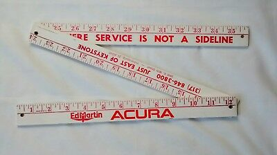 Acura Advertising Wood Ruler Car Dealer Promotional Auto