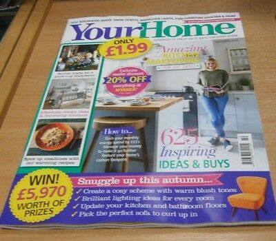 Your Home magazine OCT 2018 Grown-Up Halloween, Kitchen Makeovers, Lighting &