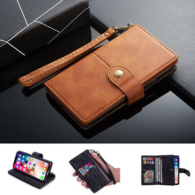 Flip Universal Leather Cover Case Stand Fits For iPhone 6 /7 /8 /X /S /Plus