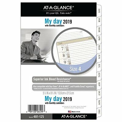 at-A-Glance One Page per Day Refill, Day Runner, January 2019 - December 2019, 5