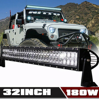 30 INCH Led Light Bar Combo+2X 18W Pods John Deere AR60250 2955 4430 4440 4455