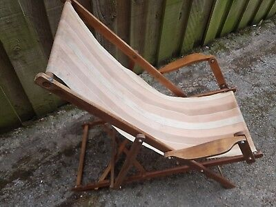 Antique Deck Chair - ANTIQUE DECK CHAIR - £75.00 PicClick UK