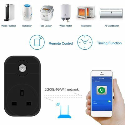Wifi Smart Plug Home Automation Phone App Timing Switch Remote Control HS QC