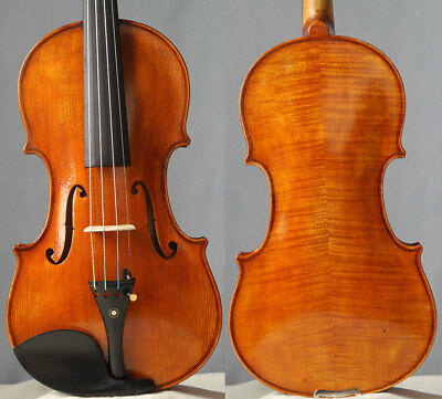 Master handmade violin fiddle Guarneri 1743, antique varnish 4/4