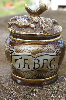 POT à TABAC ANCIEN EN PORCELAINE  BARBOTINE FRANCE
