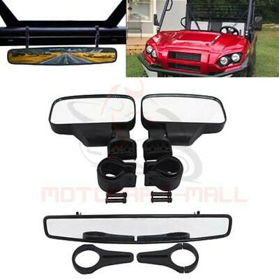 2'' Clamp Rear Side View Mirrors Set For UTV Polaris RZR 800 900 Arctic Cat 1000