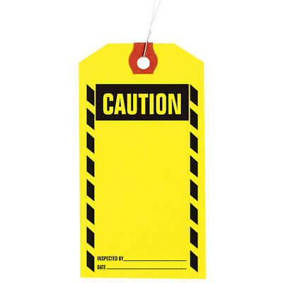 GRAINGER APPROVED Inspection Tag,Paper,Caution,PK1000, 1HAB5