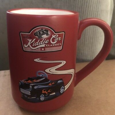 Hallmark Garage Red Race Car Coffee Cup/Mug Kiddie Car Classics Collectible