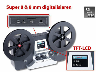 Somikon HD-XL-Film-Scanner Digitalisierer Super8 8mm alte Filme digitalisieren