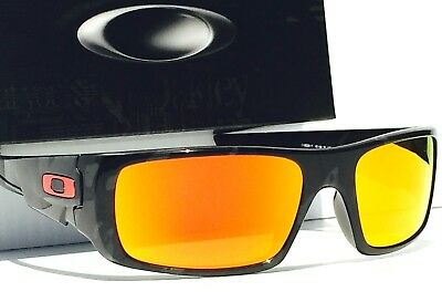 d105c87f921 NEW  OAKLEY CRANKSHAFT Black Camo FIRE Iridium Lens Wrap Sunglass oo9239-11