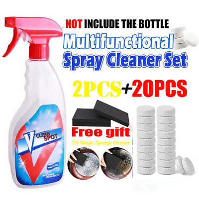 20pcs Multifunctional Effervescent Spray Cleaner FOR INVINCEABLE SPRAY BOTTLE US