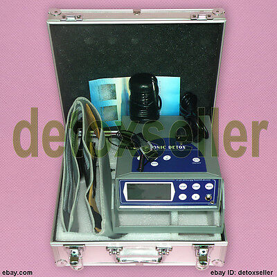 Updated LCD Detox Foot Spa Ionic Cleanse Cell Ion Foot Bath Machine F Salon CE