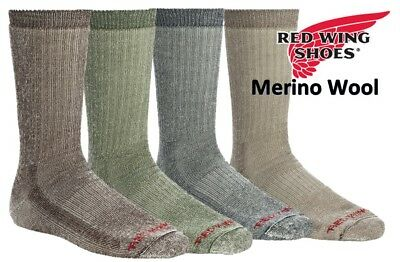 Red Wing Men's Heritage (Fits 9-12) Merino Wool Crew Hiking Sock (Choose Color)