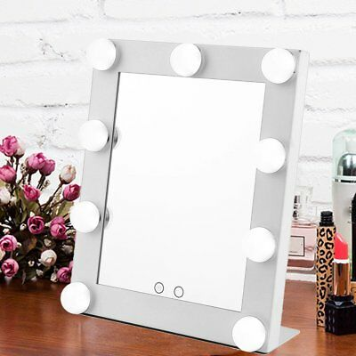 9 LED Vanity Lighted Hollywood Makeup Mirror with lights Dimmer Stage Beauty EK