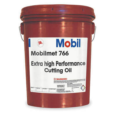 Mobilmet 766, Cutting Oil, 5 gal, 103323, Clear