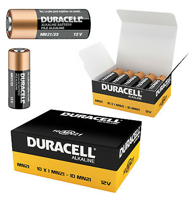 Genuine 10 X Duracell Mn21 A23 12V Alkaline Battery 23A K23A E23A V23Ga In Box