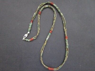 NILE  Ancient Egyptian Amulet Double Strand Mummy Bead Necklace ca 1000 BC