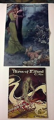 Horns Of Elfland Charles Vess Book By Archival Press & Midsummer Nights Poster
