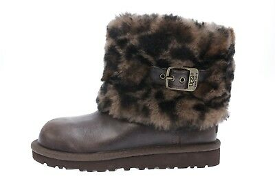 "Kids UGG AUSTRALIA ""ELLEE"" brown sheepskin winter boots sz. 13 $189"