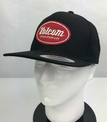 sports shoes 45b67 751be Volcom Stone Mens Cresticle Cap Snapback Hat Black One Size Adjustable
