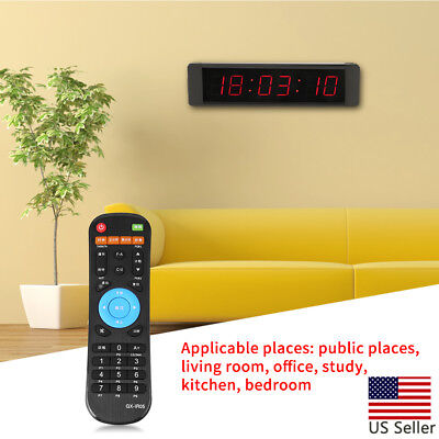 Programmable LED Remote Crossfit Interval Timer Wall Clock Fitness Training Plug