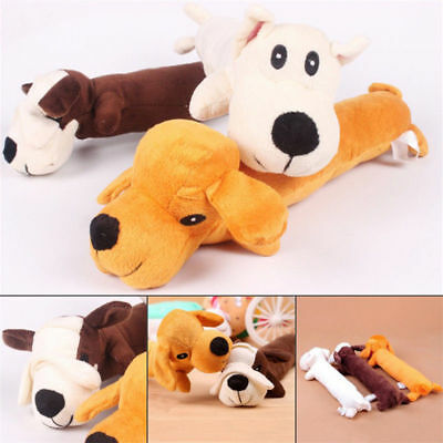 Hot Pet Puppy Plush Sound Cartoon Dog Shape Chew Toy Squeaker Squeaky Play Toys