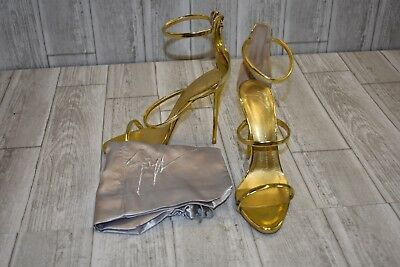 90eca750f1d9e Giuseppe Zanotti Coline Triple Strap Sandals, Women's Size 9.5, Gold  (Damaged)