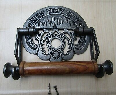 Vintage Antique Rustic old Period bathroom Wc Washroom Toilet Roll Holder