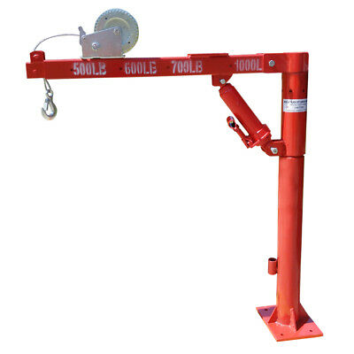 1.5 Ton Cherry Picker Truck Type with Winch Crane Hoist 1000 lb Lift