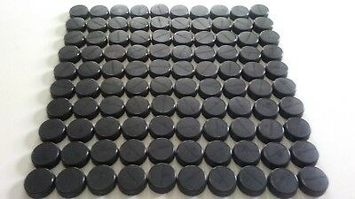 100 Black Powerade Plastic Bottle Caps for Crafts and/or Trade in Points.