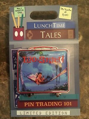 Disney Parks Pin of the Month LE 1500 Lilo & Stitch Lunch Time Tales Lunch Box