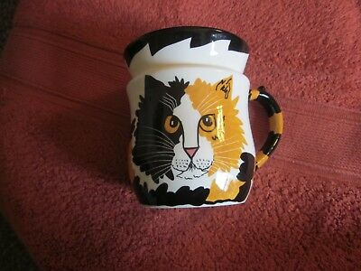 1980's CATS BY NINA LYMAN COFFEE CUP SIGNED - SCROLL DOWN FOR PICS/DESCRIPTION