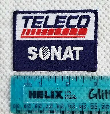 "TELECO SONAT Oil Drilling Equipment Patch  3"" X 2"""