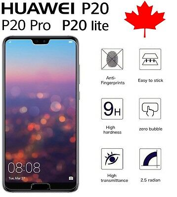 Premium Hard Cover Tempered Glass Screen Protector for Huawei P20 / Pro / Lite