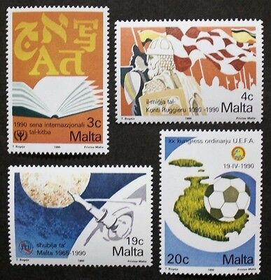 Anniversaries and events stamps, 1990, Malta, SG ref: 866-869, 4 stamp set, MNH