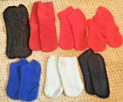 7 pr Brushed Orlon Acrylic Footies Footsies Booties variety color length Crafts